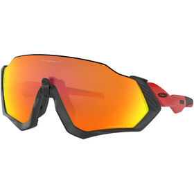 Oakley Flight Jacket Bike Glasses red/black